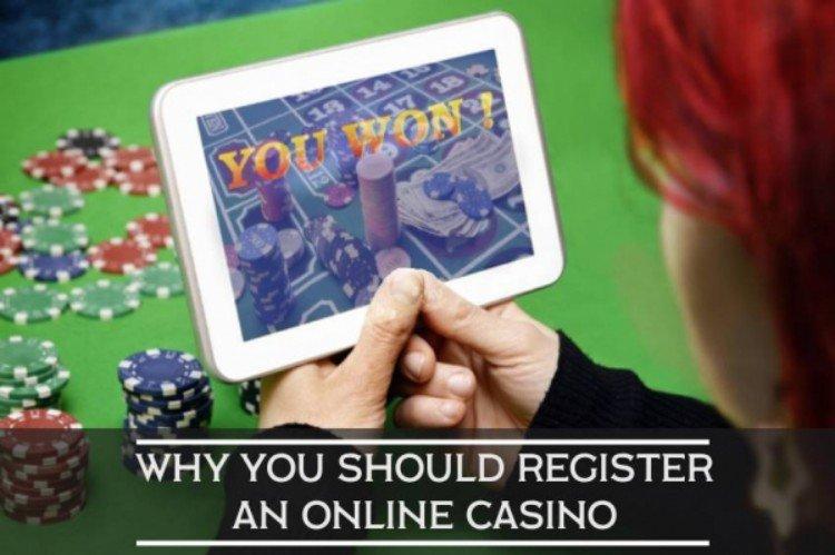 register now at online casino